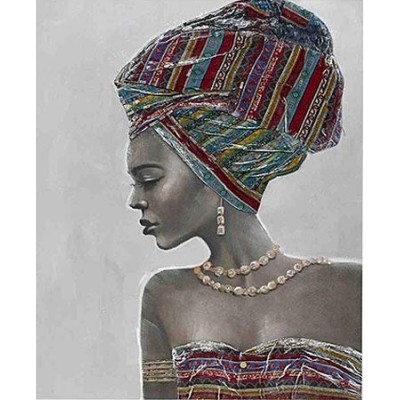 Cuadro estilo étnico diferentes texturas y colores