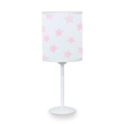 Sobremesa infantil Rosa pantalla blanca estrellas rosas pie blanco