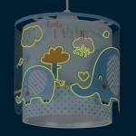 Lámpara colgante infantil Dalber 61332T Little Elephant azul