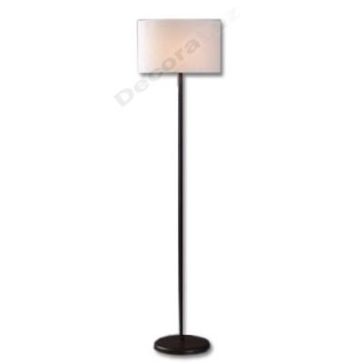 Lámpara de pie estilo clásico color marrón pantalla crema