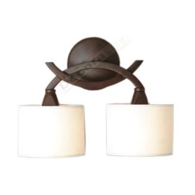 Lámpara aplique estilo clásico color óxido pantallas