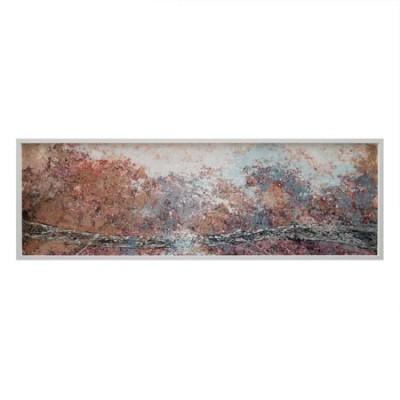 Cuadro horizontal de estilo abstracto con marco blanco