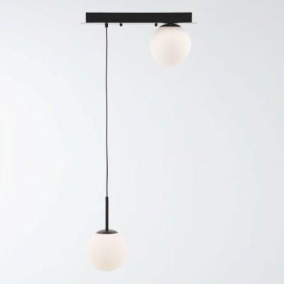 Lámpara de techo con bolas de cristal colgantes