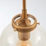 Lámpara colgante en color oro bombillas vintage