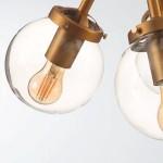 Lámpara de techo en color oro y negro vintage