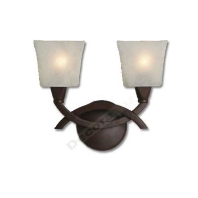 Aplique dos luces cristal crema color marrón estilo clásico