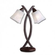 Sobremesa dos luces color marrón crema estilo clásico