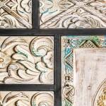 Consola Jaipur de madera natural con cajones