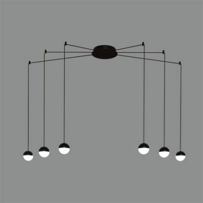 Lámpara colgante moderna de Led con 6 luces 3000k luz cálida