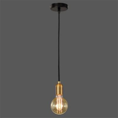 Lámpara vintage sin pantalla en color cuero y negro