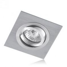 Aro orientable de empotrar con acabado en aluminio cromo
