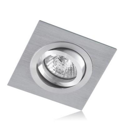 Aro empotrable cuadrado acabado en aluminio wengue