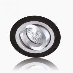 Aro de diseño con acabado en wengué y aluminio GU10