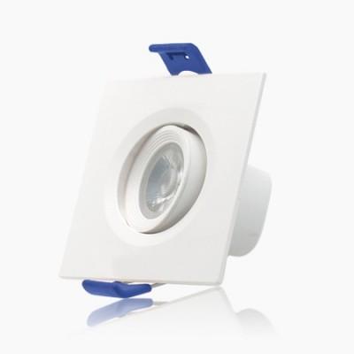 Mini downlight cuadrado orientable Threeline 7w 2700k