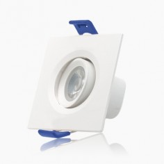 Foco mini downlight LED cuadrado basculante Threeline 7w 4000k