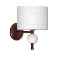 Aplique moderno marrón pantalla blanca bola cerámica