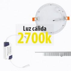 Downlight extraplano LED con 18w y luz cálida 2700k