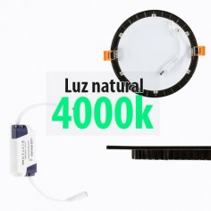 Downlight LED extraplano color negro 12w 4000k