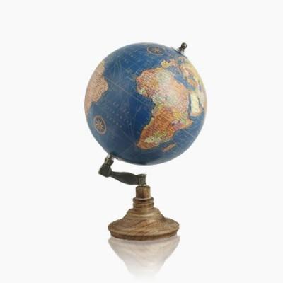 Bola del mundo de 20 cm fabricada en madera