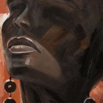 Pintura de Africana sobre lienzo de madera de pino