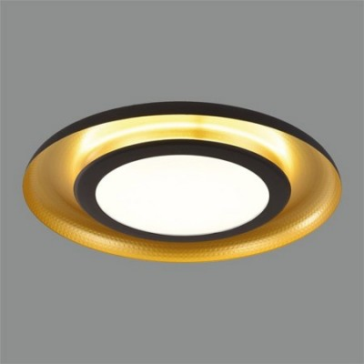 Plafón de techo LED 60w con acabado en negro dorado