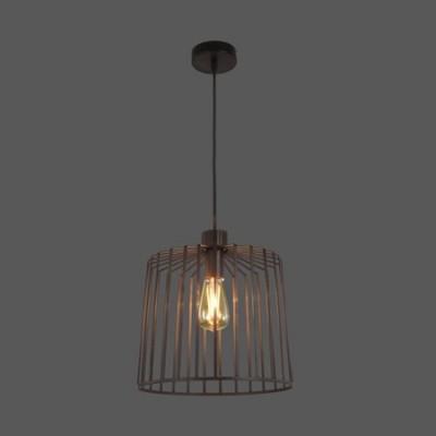 Lámpara colgante serie Tao de metal con acabado negro