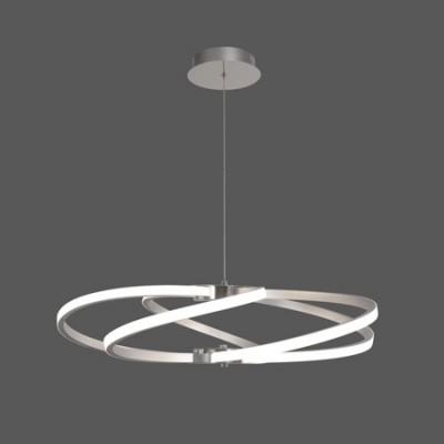 Lámpara colgante de LED con acabado en plata y cromo