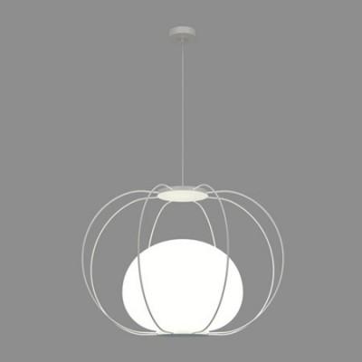 Lámpara colgante fabricada en metal con bola de cristal