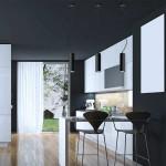 Lámpara de techo de LED colgante en color negro para comedor