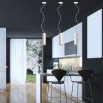 Lámpara de techo de LED con acabado en blanco para cocina