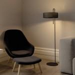 Pie de salón de LED en color negro para salón