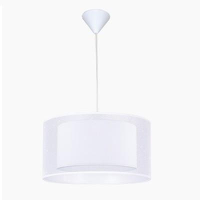 Lámpara colgante de techo juvenil en color blanco