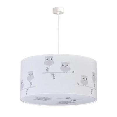 Lámpara colgante para dormitorio infantil de búhos grises