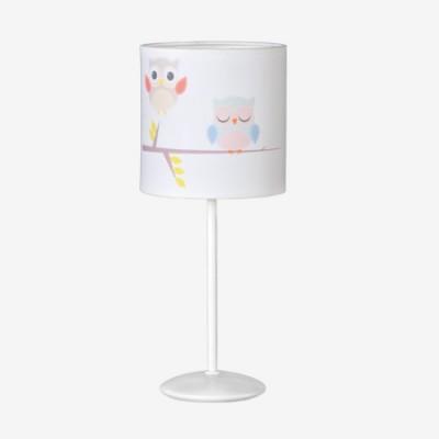 Lámpara sobremesa infantil con motivo de búhos