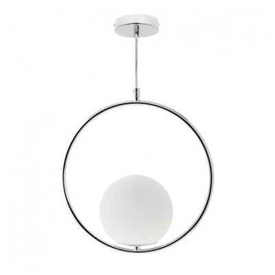 Lámpara colgante moderna serie Aimee en color cromo