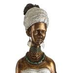Figura africana fabricada en poliresina 88cm de altura