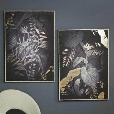 Set de 2 cuadros lienzos con detalles...