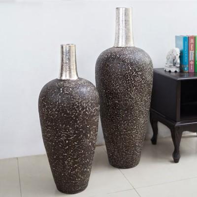 Set de 2 vasijas de terracota en...