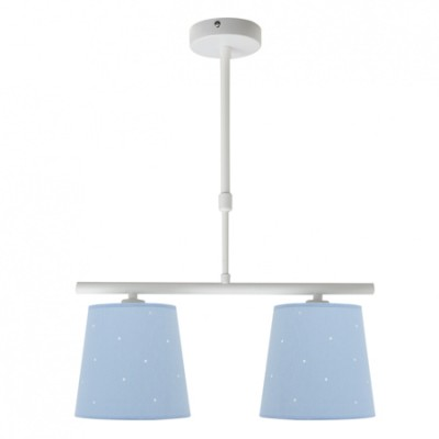 Lámpara infantil azul con dos luces...