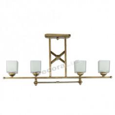 Lámpara color bronce con pantallas de cristal