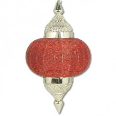 Colgante árabe cristales rojos detalles metal estilo moderno