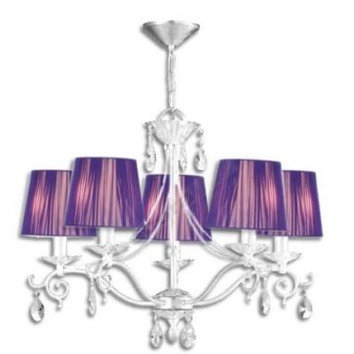 Lámpara moderna color blanco pantallas color lila