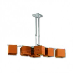 Lámpara actual estilo moderno pantallas cuadradas naranja