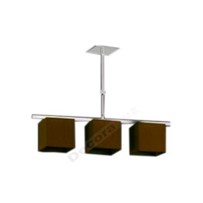 Lámpara estilo moderno pantallas forma cúbica marrón