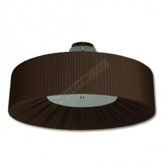 Semiplafón moderno color marrón cinco luces pantalla relieve
