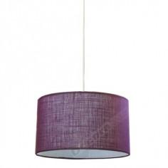 Lámpara colgante color lila estilo moderno forma básica