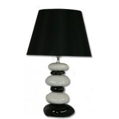 Sobremesa moderno piedras blanco negro