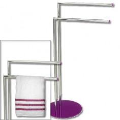 Toallero diseño actual cromado metal detalles color lila