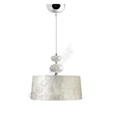 Colgante lámpara elegante pantalla nacar acabado cromo