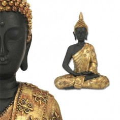 Figura buda estilo étnico moderno hecha resina color oro